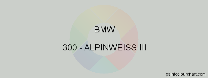 Bmw paint 300 Alpinweiss Iii