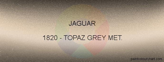 Jaguar paint 1820 Topaz Grey Met.