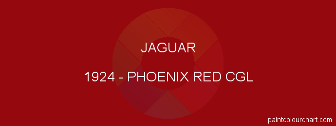Jaguar paint 1924 Phoenix Red Cgl