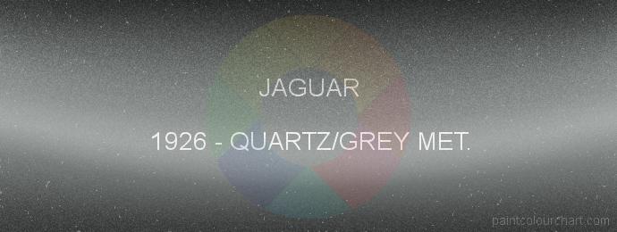 Jaguar paint 1926 Quartz/grey Met.