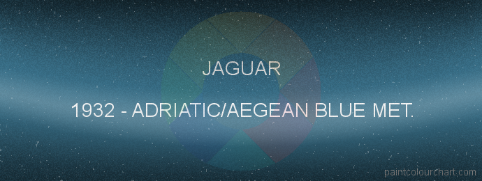 Jaguar paint 1932 Adriatic/aegean Blue Met.