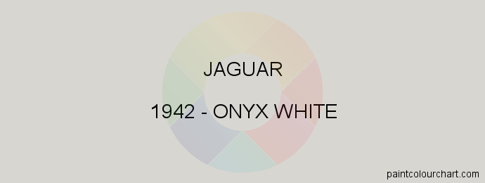 Jaguar paint 1942 Onyx White