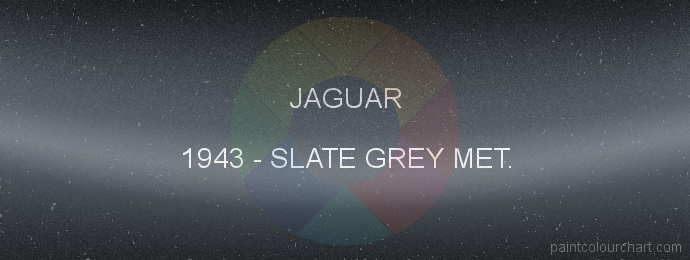 Jaguar paint 1943 Slate Grey Met.