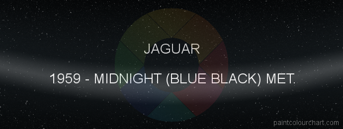 Jaguar paint 1959 Midnight (blue Black) Met.