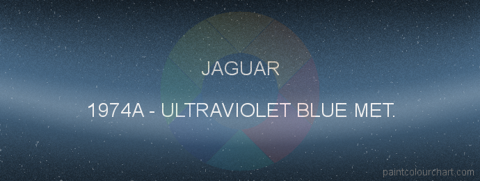 Jaguar paint 1974A Ultraviolet Blue Met.
