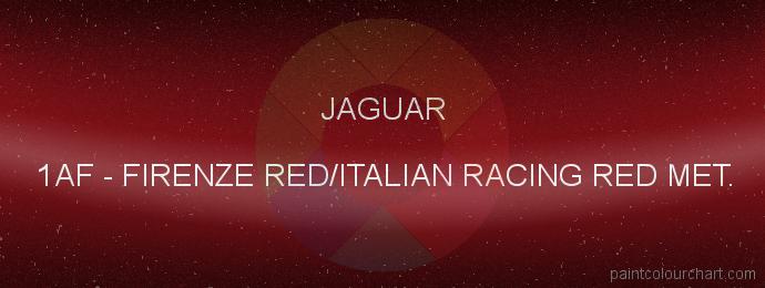 Jaguar paint 1AF Firenze Red/italian Racing Red Met.
