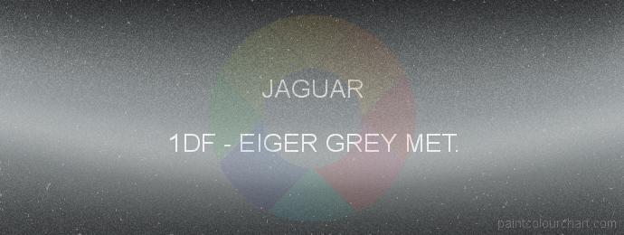 Jaguar paint 1DF Eiger Grey Met.