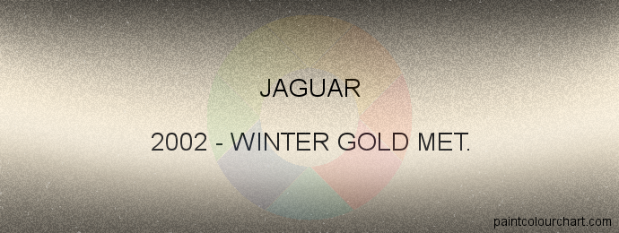Jaguar paint 2002 Winter Gold Met.
