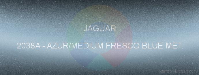 Jaguar paint 2038A Azur/medium Fresco Blue Met.