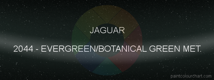 Jaguar paint 2044 Evergreen/botanical Green Met.