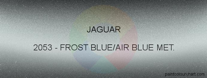 Jaguar paint 2053 Frost Blue/air Blue Met.