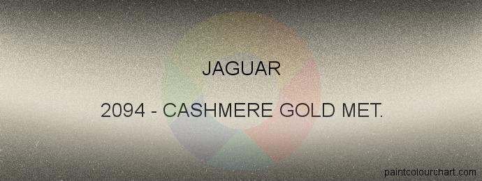 Jaguar paint 2094 Cashmere Gold Met.