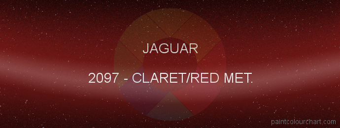 Jaguar paint 2097 Claret/red Met.