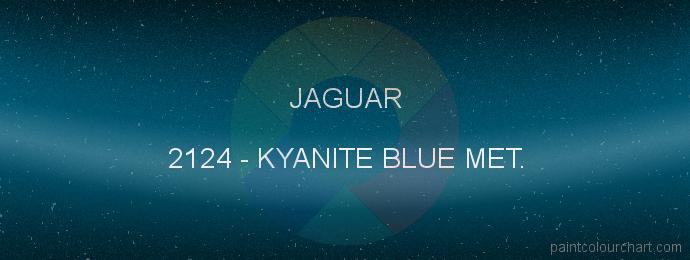 Jaguar paint 2124 Kyanite Blue Met.