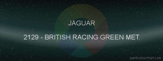 Jaguar paint 2129 British Racing Green Met.