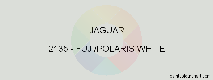 Jaguar paint 2135 Fuji/polaris White