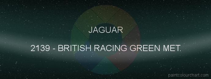 Jaguar paint 2139 British Racing Green Met.