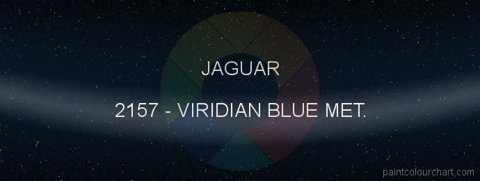 Jaguar paint 2157 Viridian Blue Met.