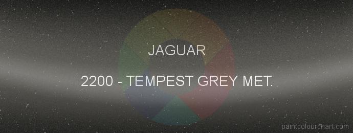 Jaguar paint 2200 Tempest Grey Met.