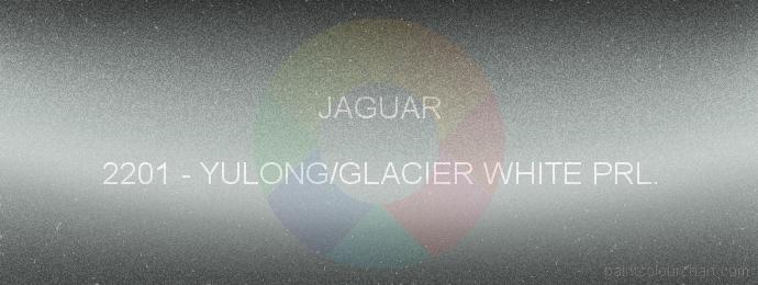 Jaguar paint 2201 Yulong/glacier White Prl.