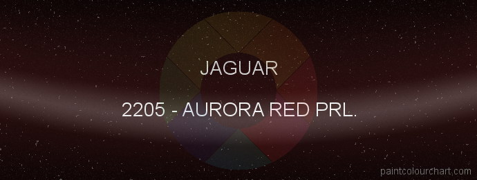 Jaguar paint 2205 Aurora Red Prl.