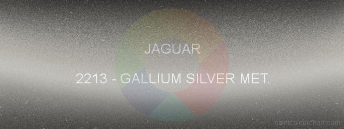 Jaguar paint 2213 Gallium Silver Met.