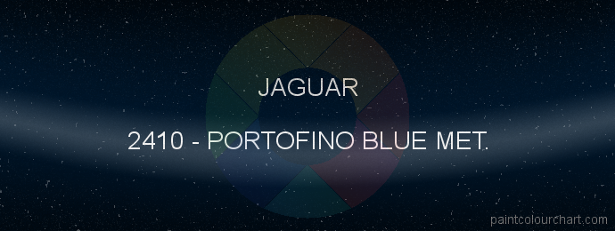 Jaguar paint 2410 Portofino Blue Met.