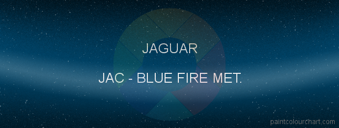 Jaguar paint JAC Blue Fire Met.