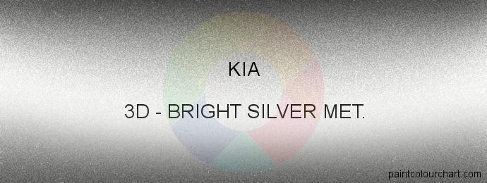 Kia paint 3D Bright Silver Met.