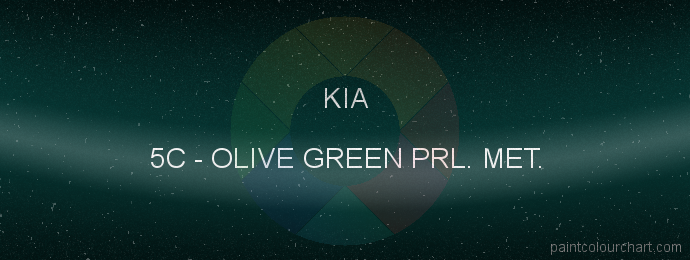Kia paint 5C Olive Green Prl. Met.