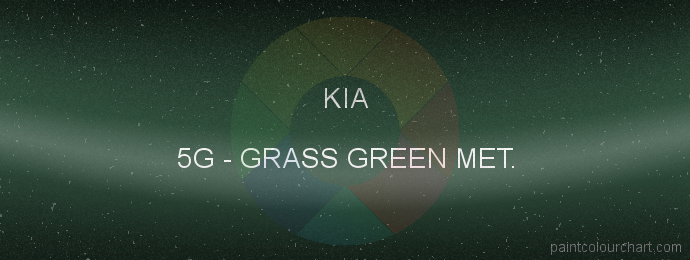 Kia paint 5G Grass Green Met.