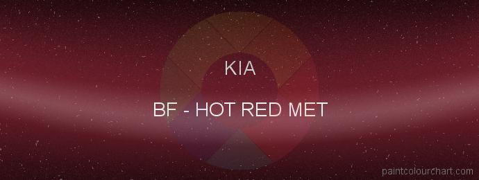 Kia paint BF Hot Red Met