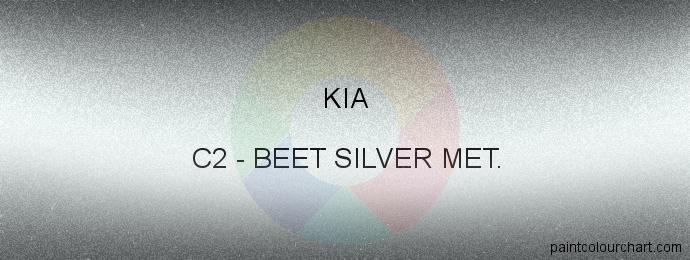 Kia paint C2 Beet Silver Met.