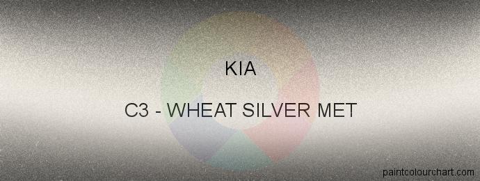 Kia paint C3 Wheat Silver Met