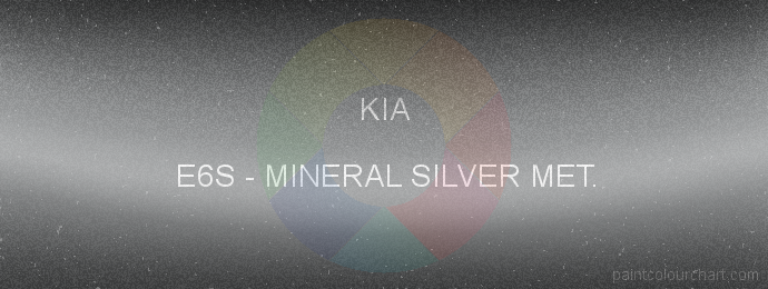 Kia paint E6S Mineral Silver Met.