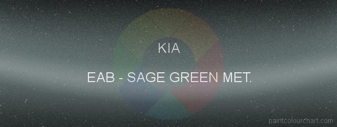 Kia paint EAB Sage Green Met.