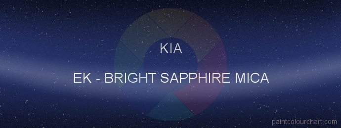 Kia paint EK Bright Sapphire Mica