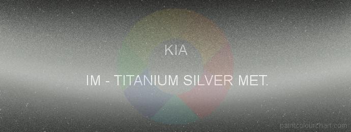 Kia paint IM Titanium Silver Met.