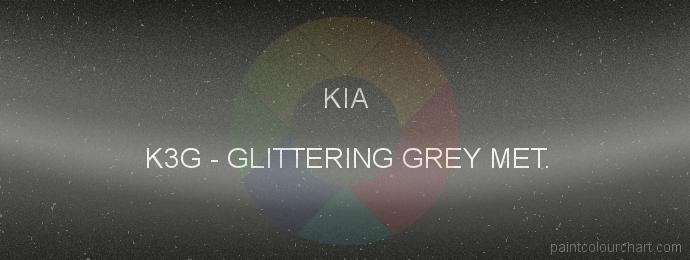 Kia paint K3G Glittering Grey Met.
