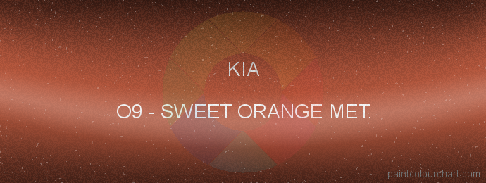 Kia paint O9 Sweet Orange Met.