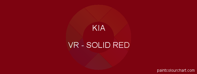 Kia paint VR Solid Red