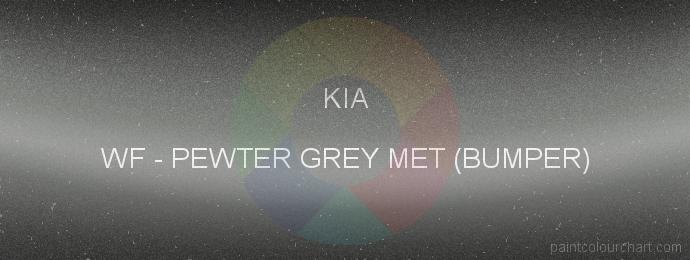 Kia paint WF Pewter Grey Met (bumper)