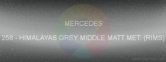 Mercedes paint 258 Himalayas Grey Middle Matt Met. (rims)