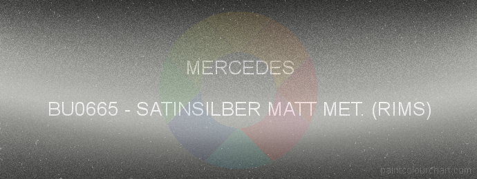 Mercedes paint BU0665 Satinsilber Matt Met. (rims)