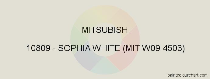 Mitsubishi paint 10809 Sophia White (mit W09 4503)