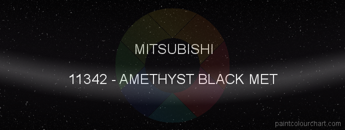 Mitsubishi paint 11342 Amethyst Black Met