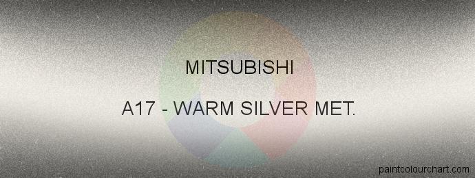 Mitsubishi paint A17 Warm Silver Met.