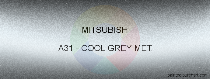 Mitsubishi paint A31 Cool Grey Met.