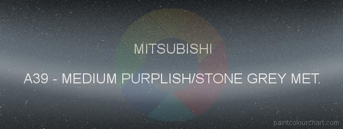 Mitsubishi paint A39 Medium Purplish/stone Grey Met