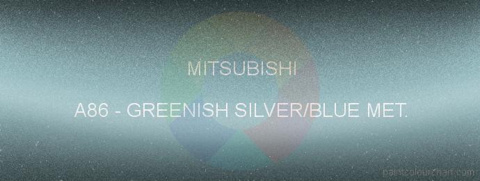 Mitsubishi paint A86 Greenish Silver/blue Met.